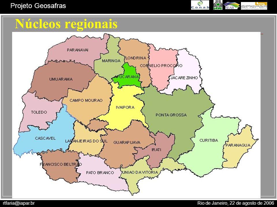 Núcleos regionais