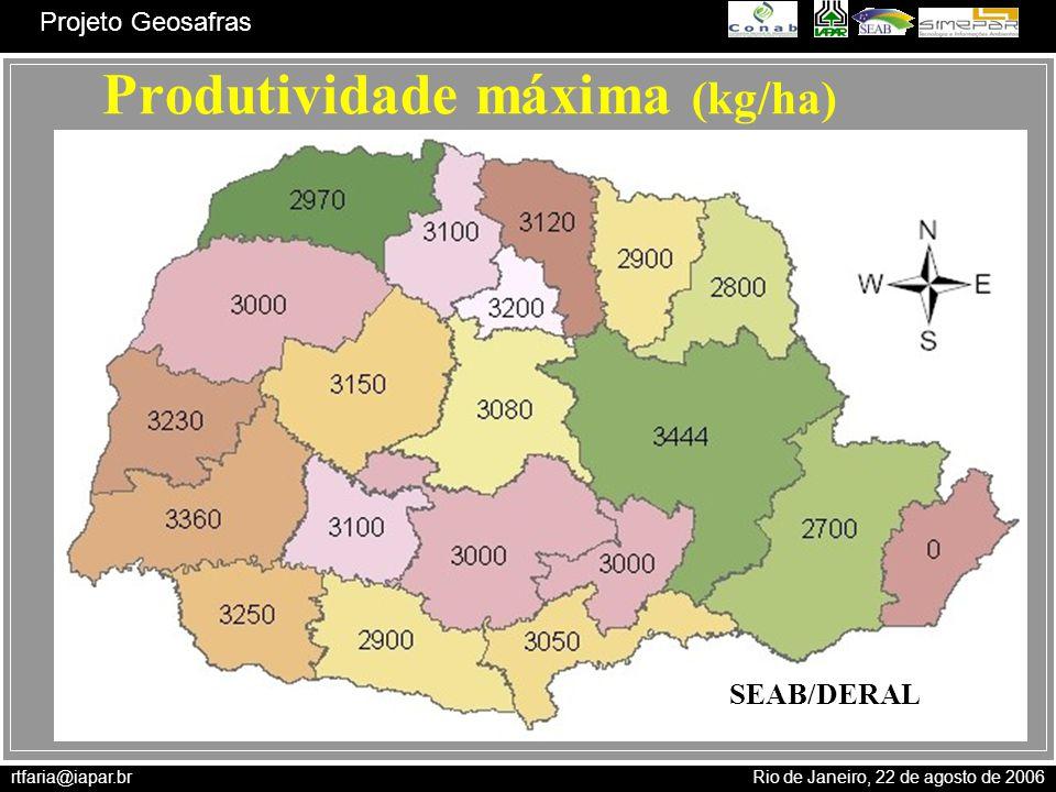 Produtividade máxima (kg/ha)