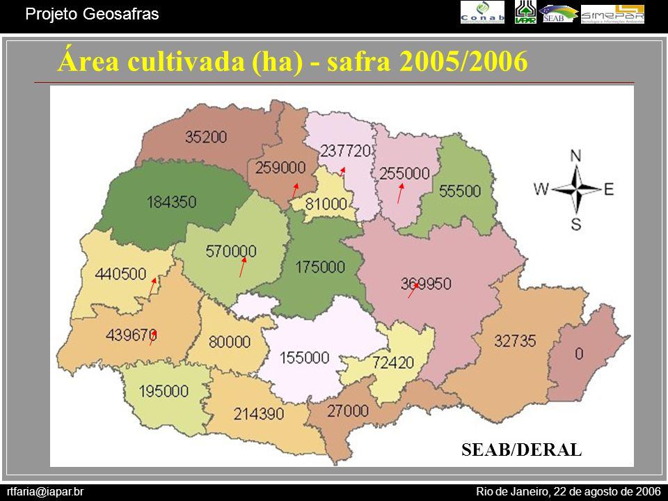 Área cultivada (ha) - safra 2005/2006