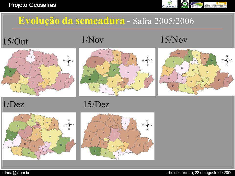 Evolução da semeadura - Safra 2005/2006