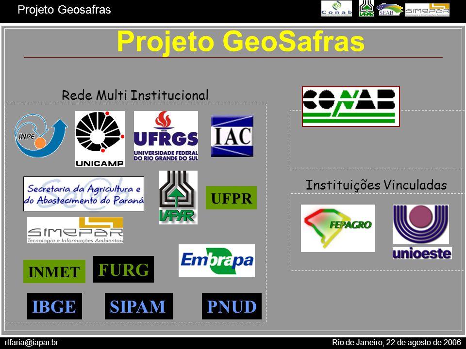 Projeto GeoSafras FURG IBGE SIPAM PNUD UFPR INMET