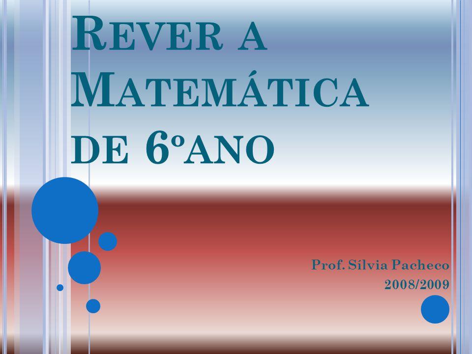 Rever a Matemática de 6ºano