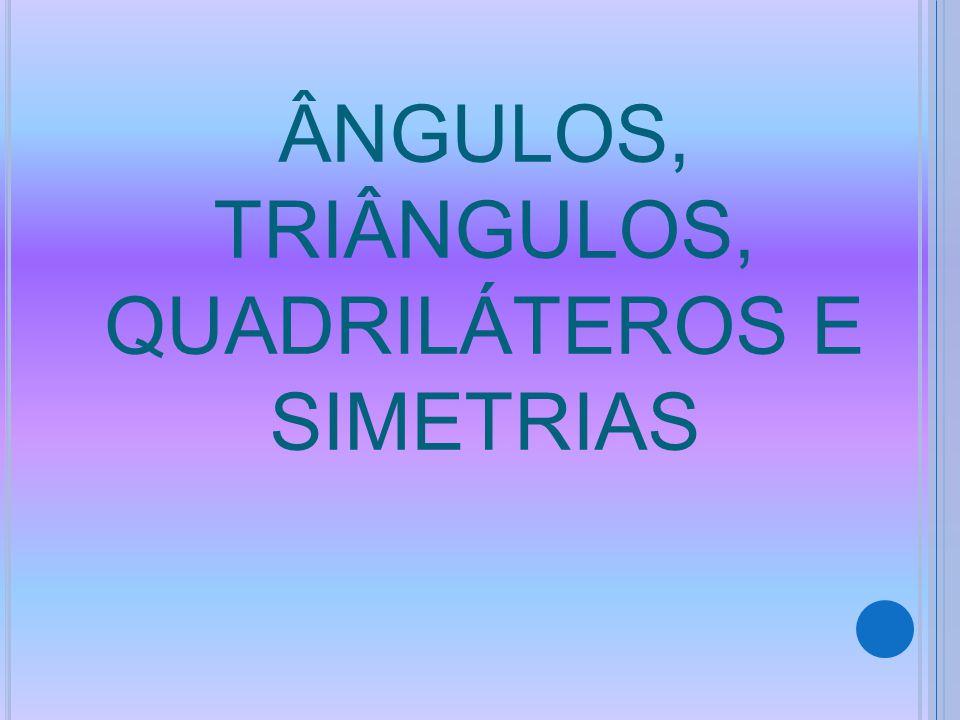 ÂNGULOS, TRIÂNGULOS, QUADRILÁTEROS E SIMETRIAS