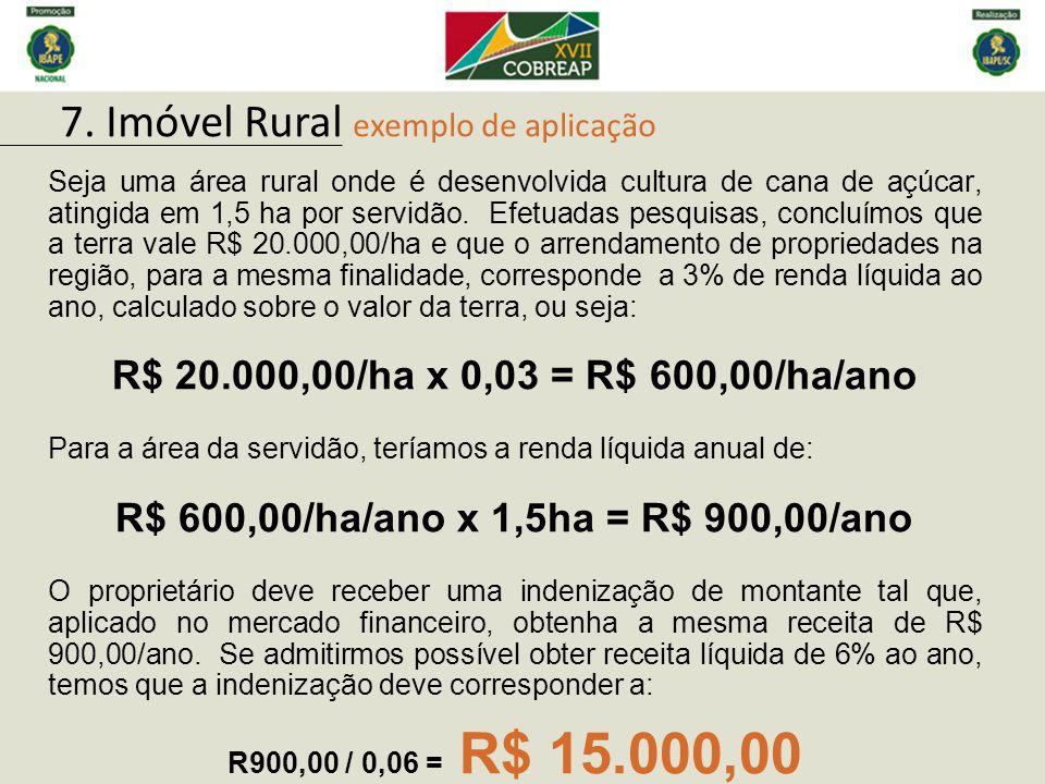 7. Imóvel Rural exemplo de aplicação