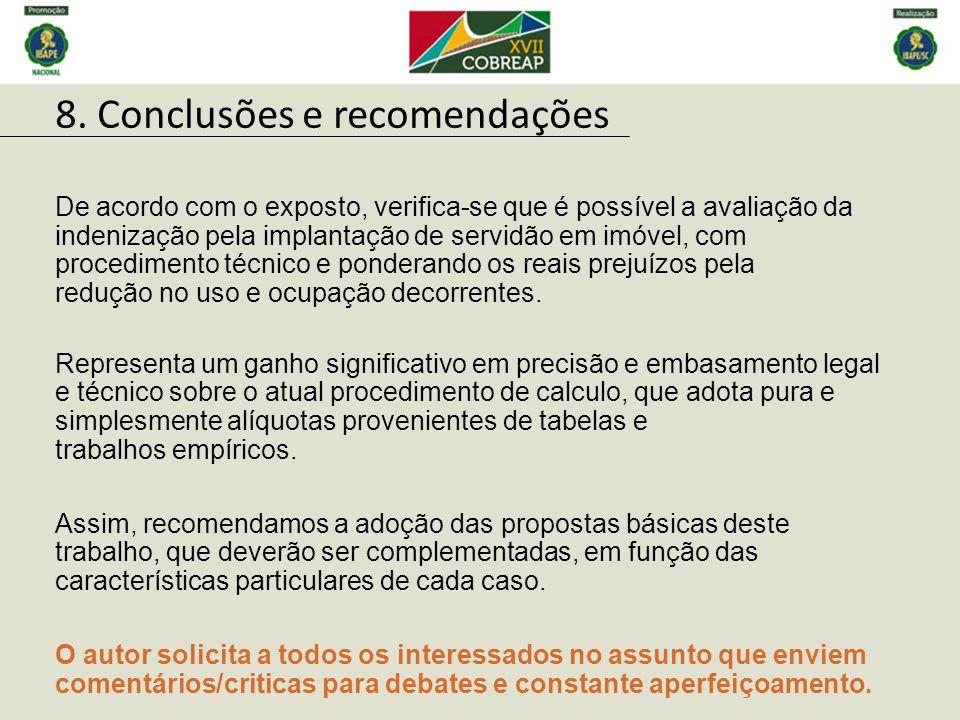 8. Conclusões e recomendações