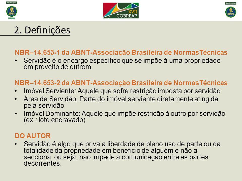 2. Definições NBR–14.653-1 da ABNT-Associação Brasileira de NormasTécnicas.