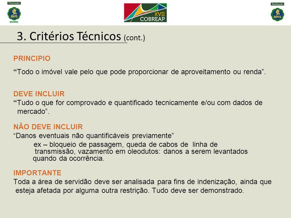 3. Critérios Técnicos (cont.)