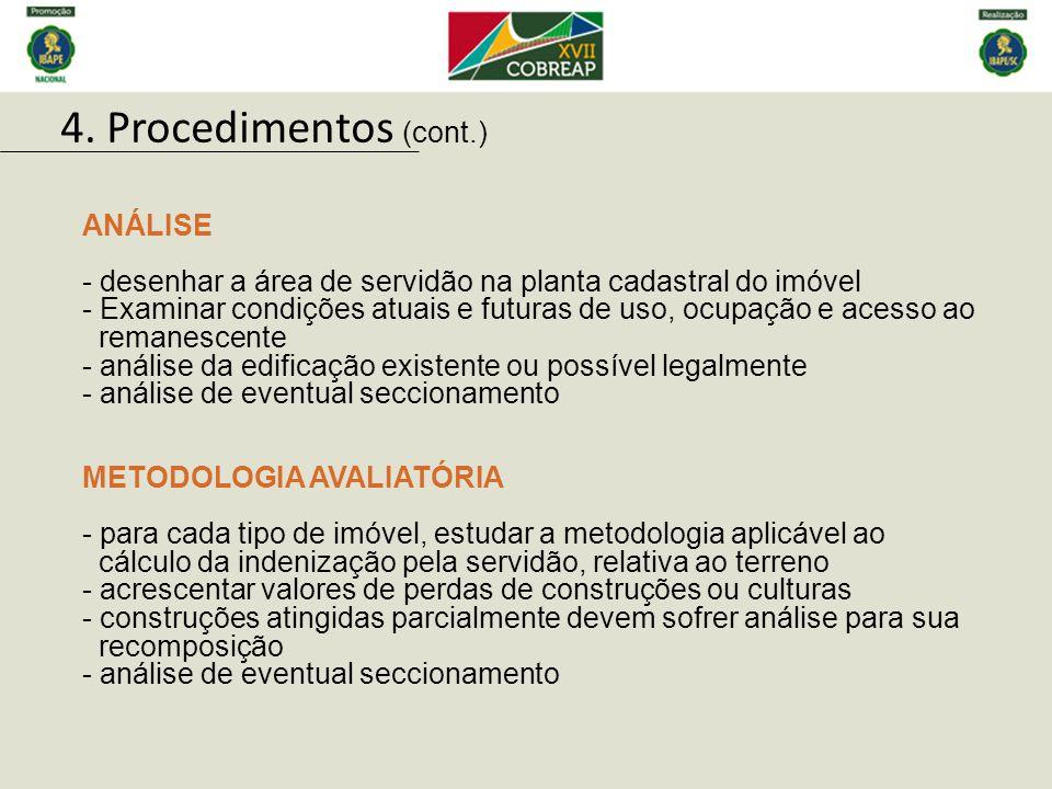 4. Procedimentos (cont.) ANÁLISE