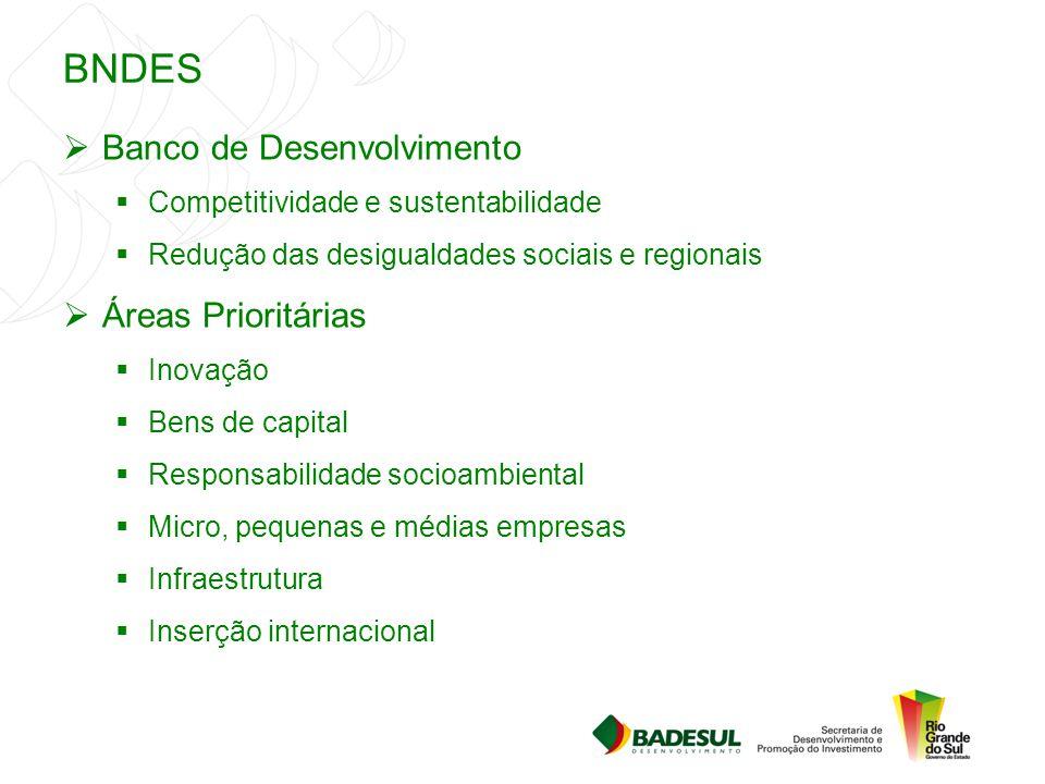 BNDES Banco de Desenvolvimento Áreas Prioritárias