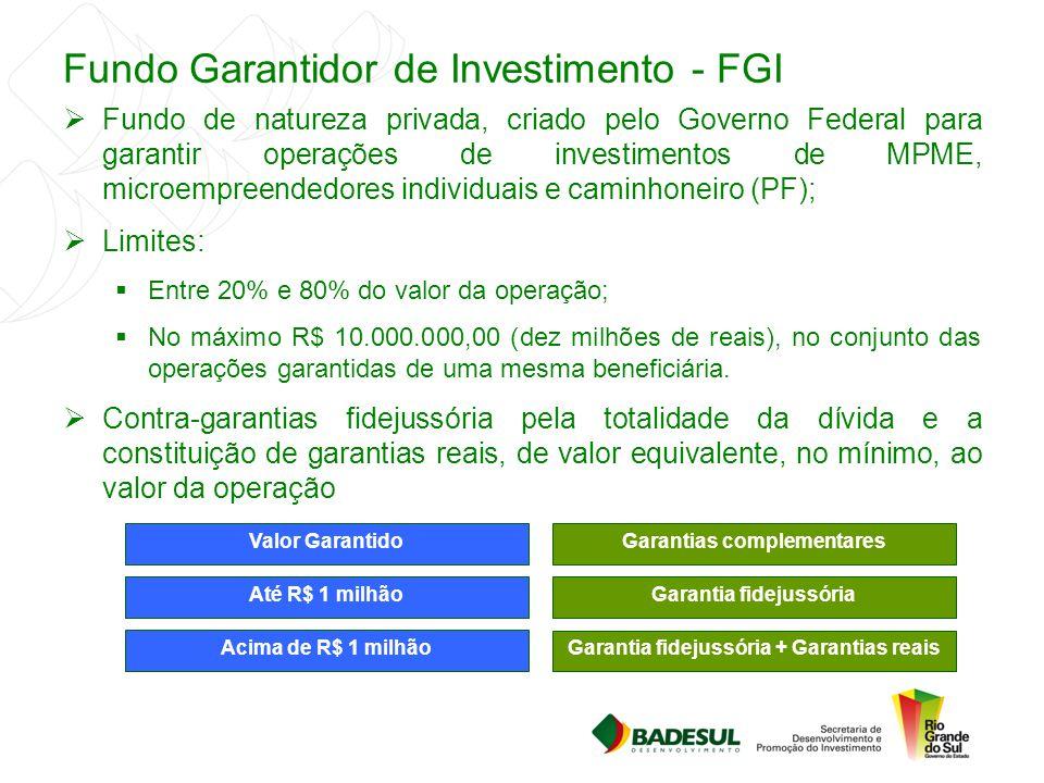 Fundo Garantidor de Investimento - FGI