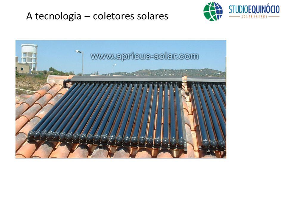 A tecnologia – coletores solares