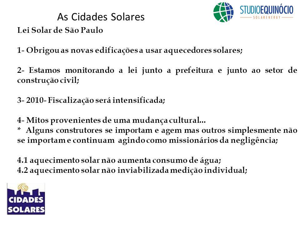 As Cidades Solares Lei Solar de São Paulo