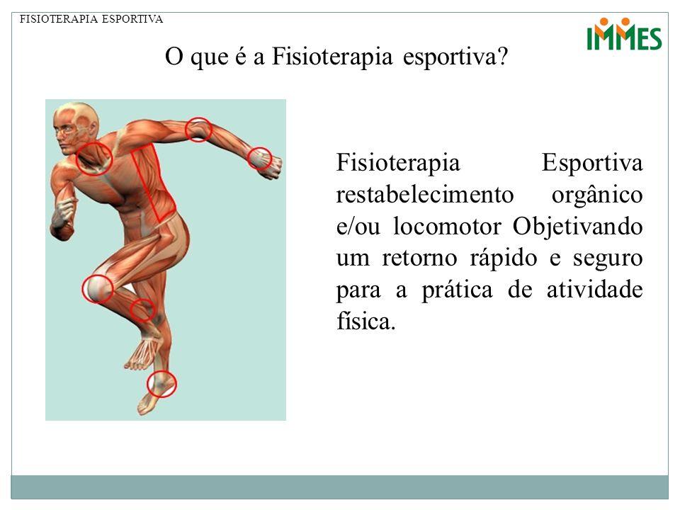O que é a Fisioterapia esportiva