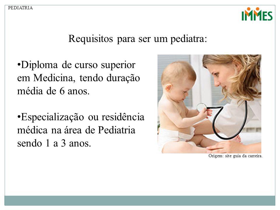 Requisitos para ser um pediatra: