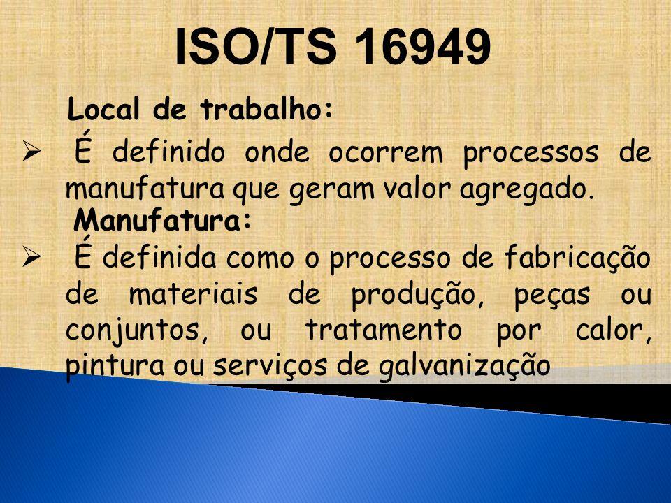 ISO/TS 16949 Local de trabalho: