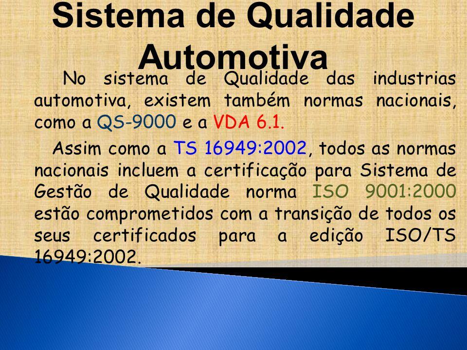 Sistema de Qualidade Automotiva