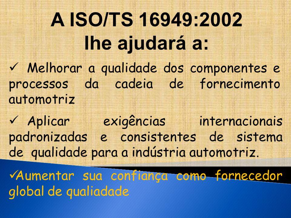 A ISO/TS 16949:2002 lhe ajudará a: