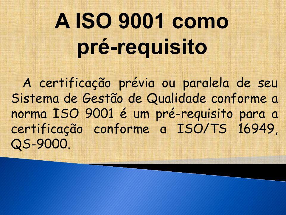 A ISO 9001 como pré-requisito
