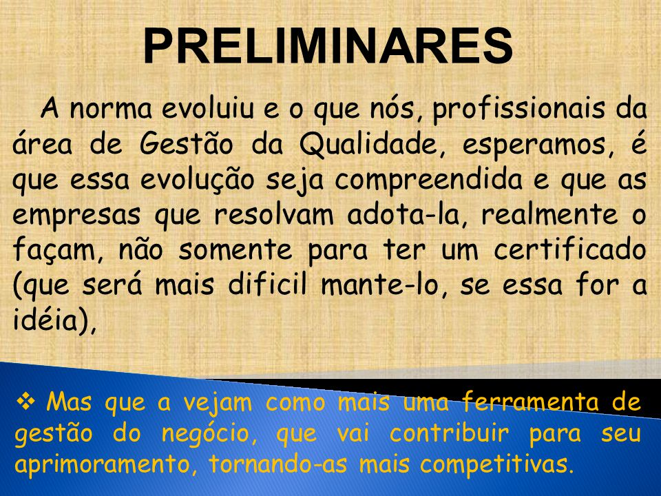 PRELIMINARES