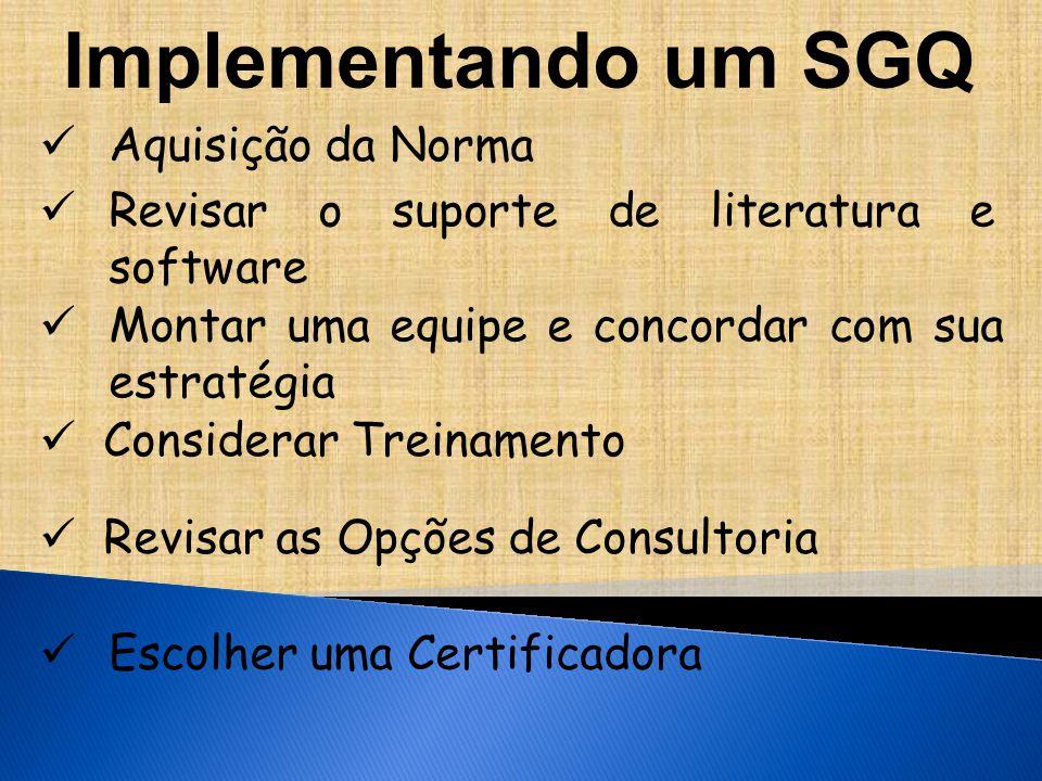 Implementando um SGQ Aquisição da Norma