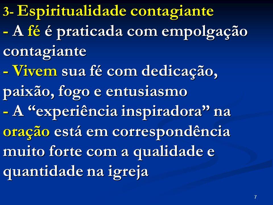 - A fé é praticada com empolgação contagiante