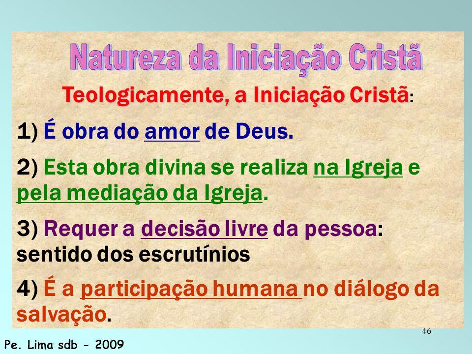 Teologicamente, a Iniciação Cristã: