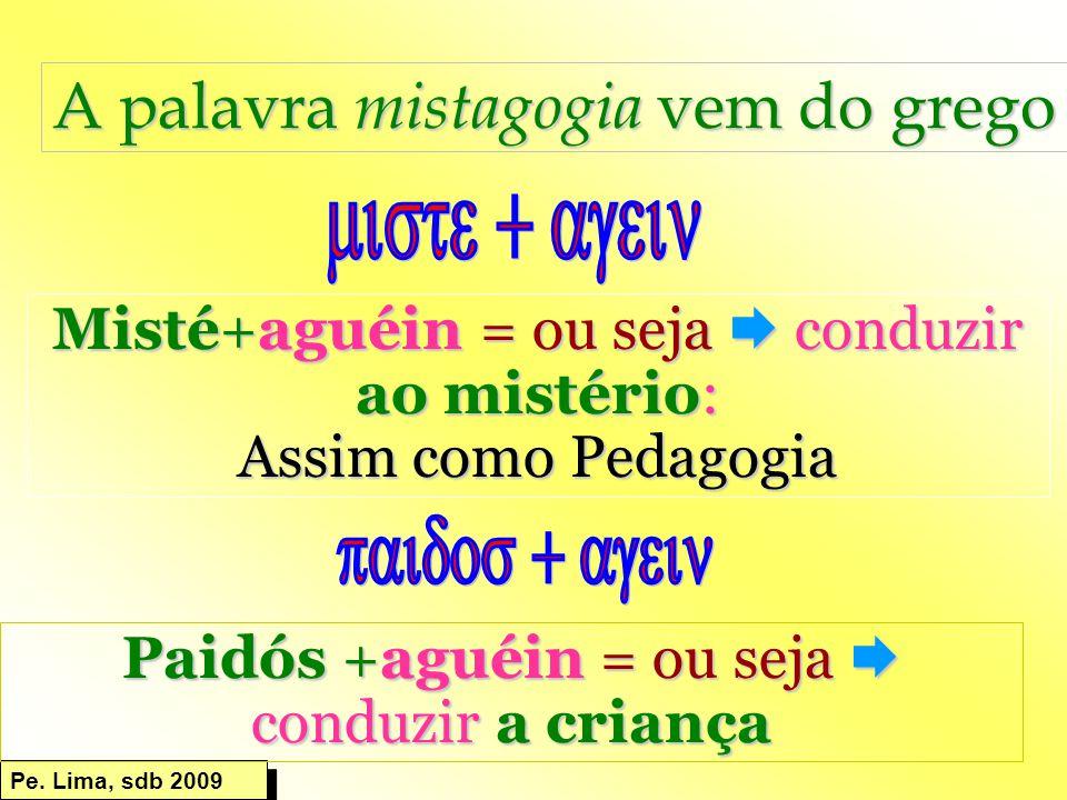 A palavra mistagogia vem do grego