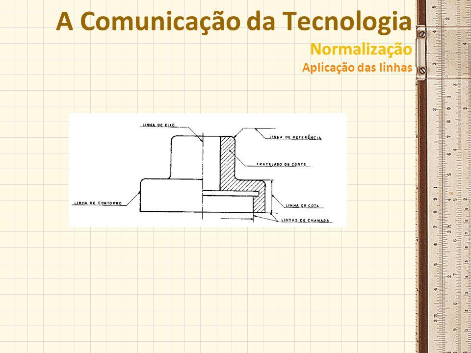 A Comunicação da Tecnologia Normalização Aplicação das linhas