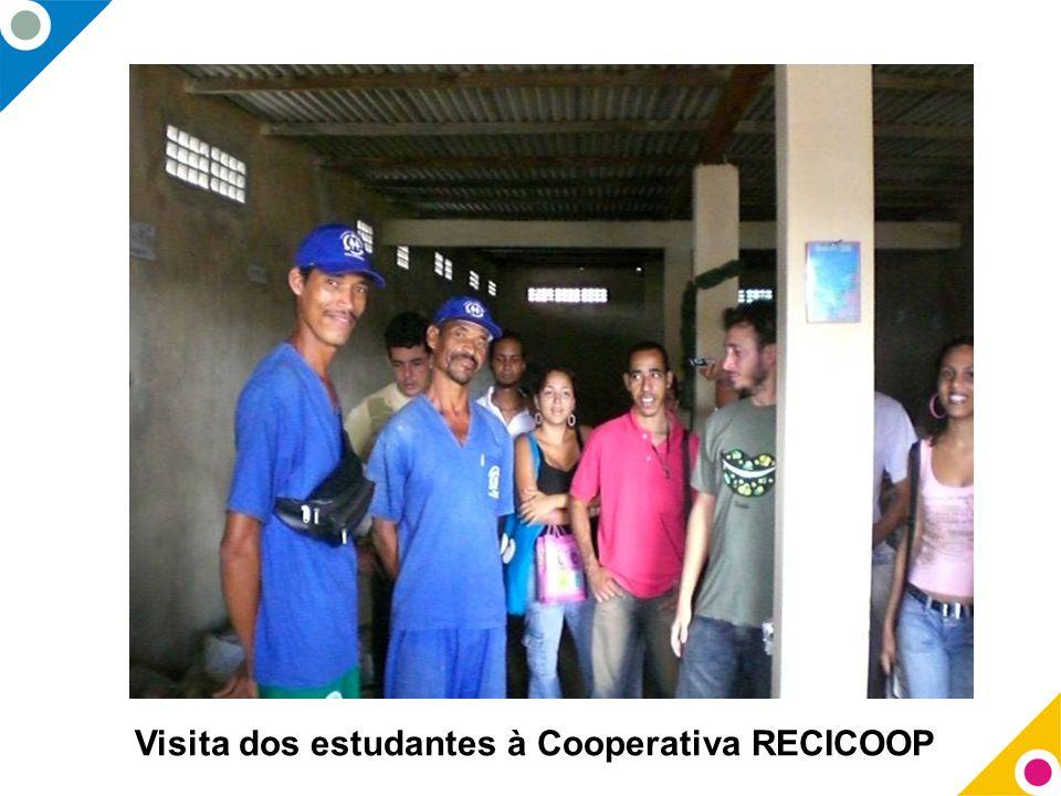 Visita dos estudantes à Cooperativa RECICOOP
