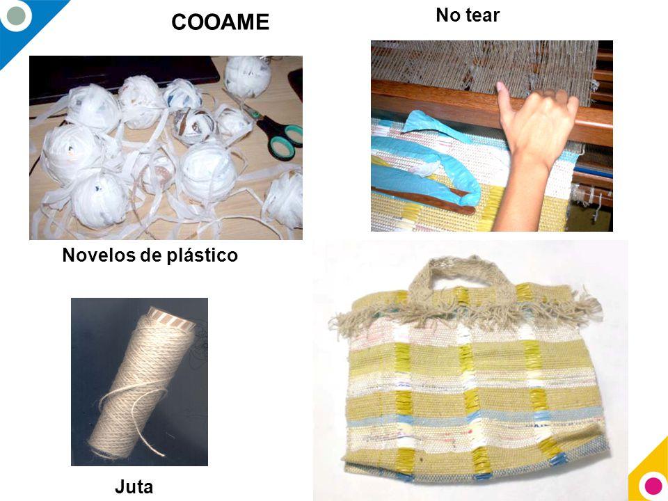 No tear COOAME Novelos de plástico Juta