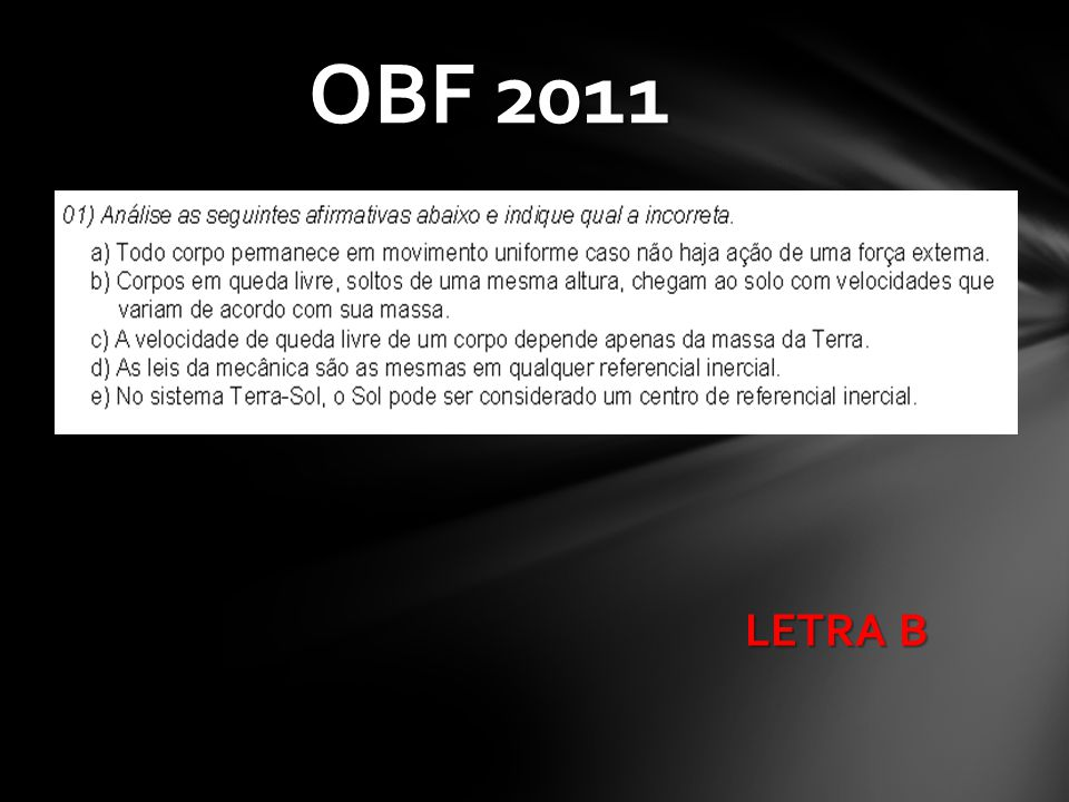 OBF 2011 LETRA B