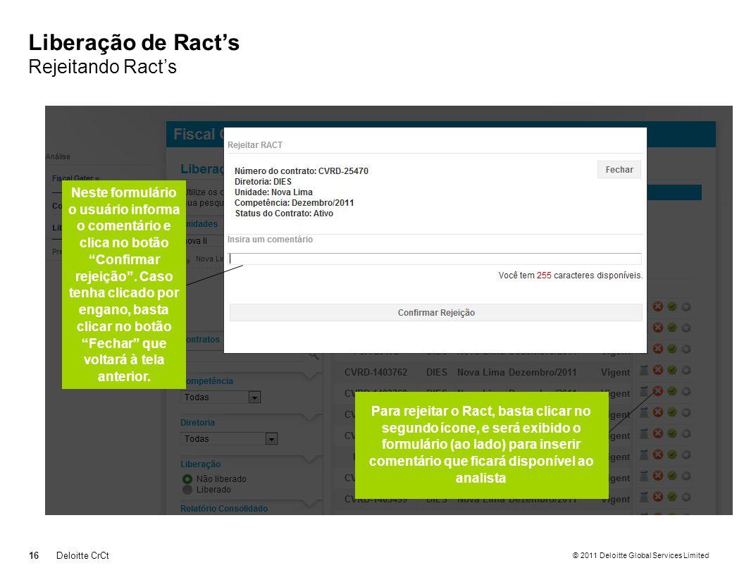 Liberação de Ract's Rejeitando Ract's