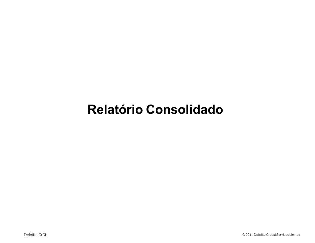 Relatório Consolidado