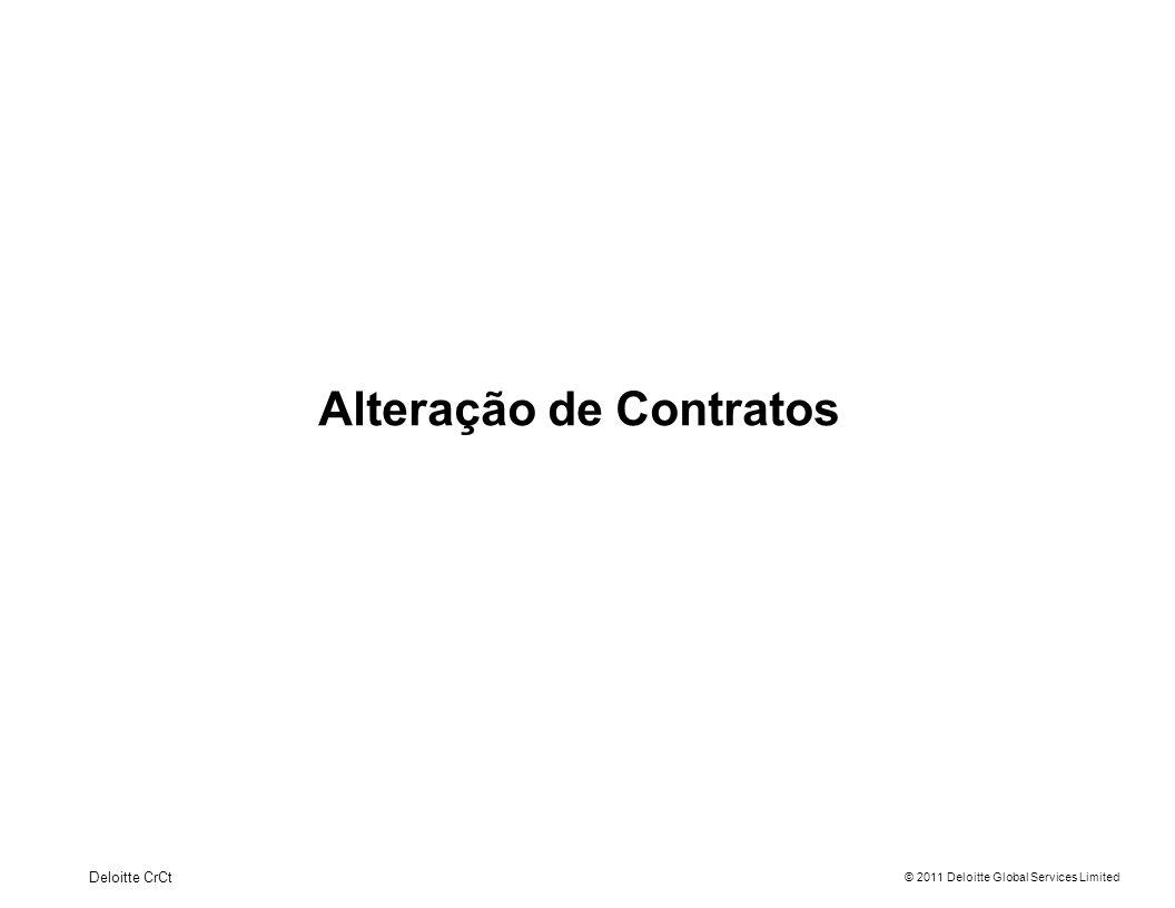 Alteração de Contratos