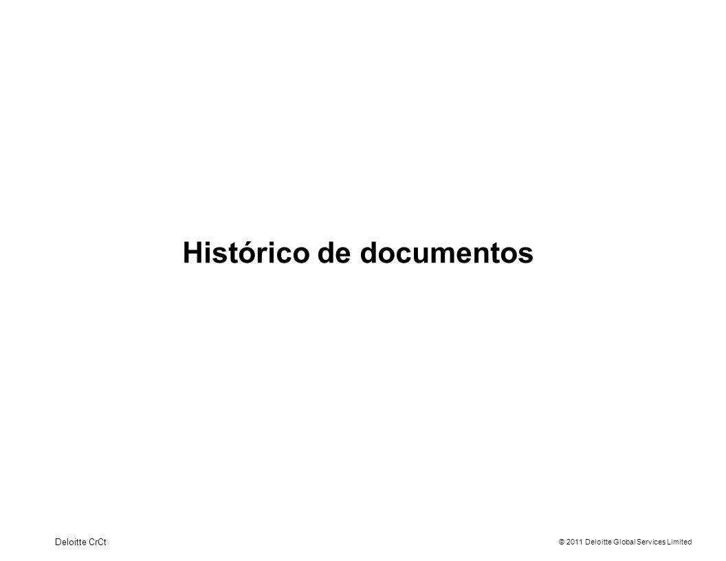 Histórico de documentos