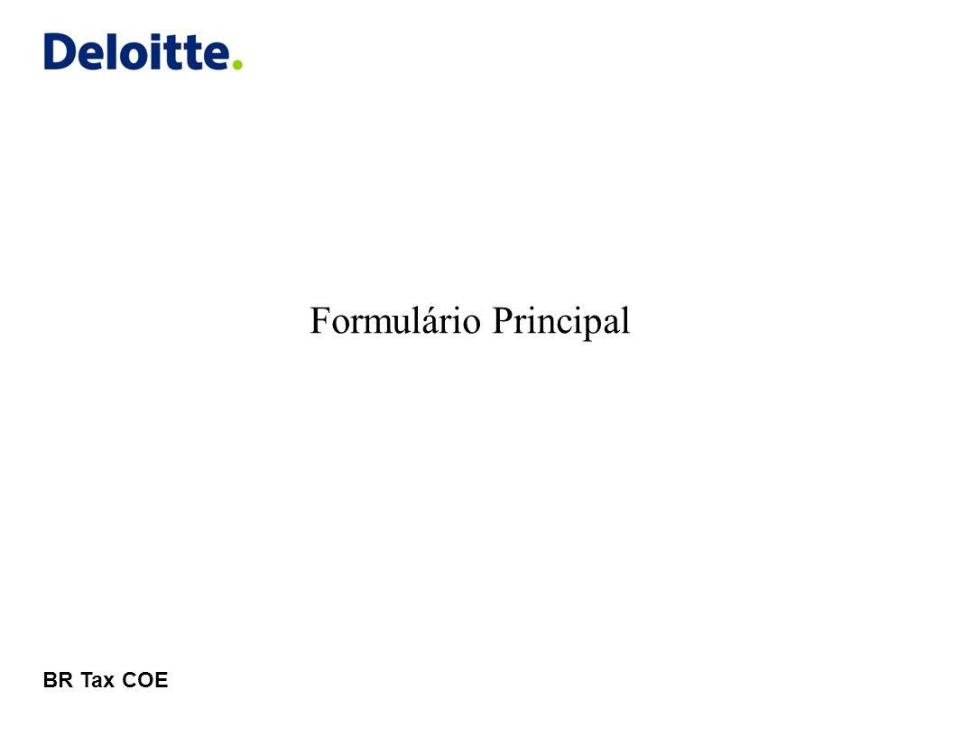 Formulário Principal BR Tax COE