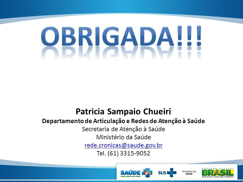 OBRIGADa!!! Patricia Sampaio Chueiri