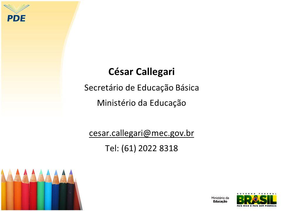 César Callegari Secretário de Educação Básica Ministério da Educação