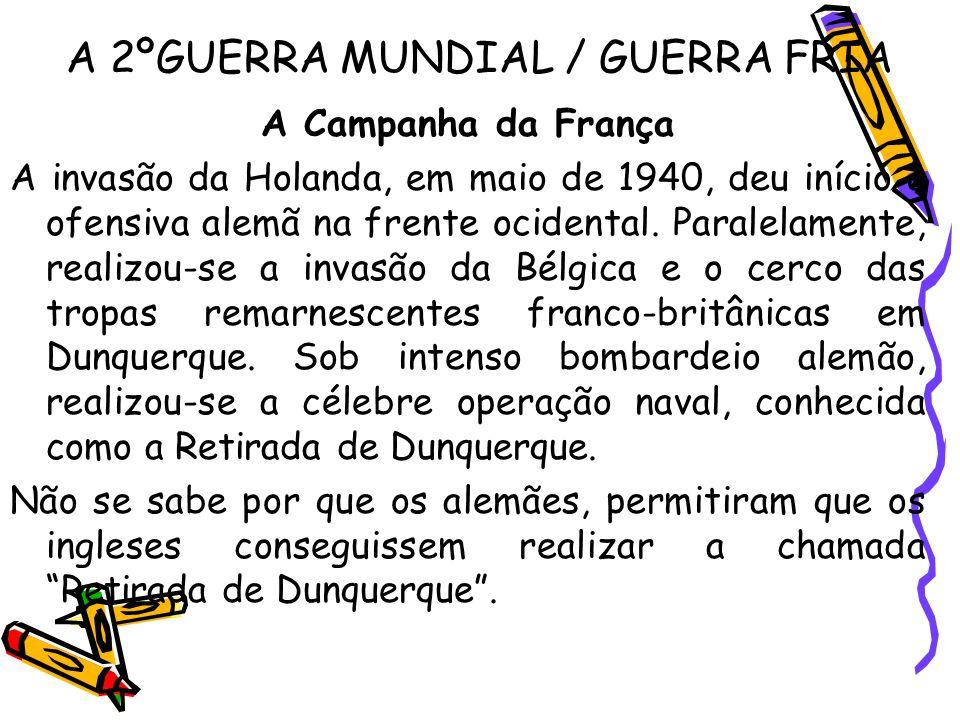 A 2ºGUERRA MUNDIAL / GUERRA FRIA