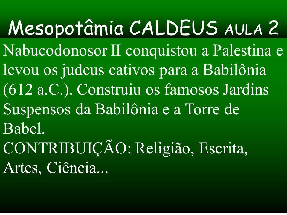 Mesopotâmia CALDEUS AULA 2