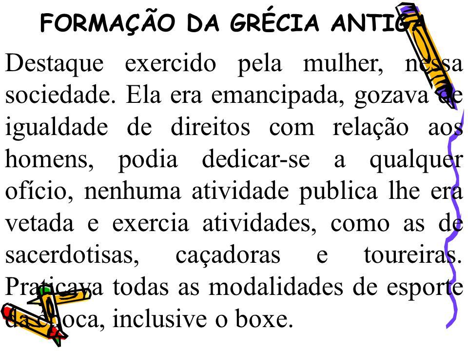 FORMAÇÃO DA GRÉCIA ANTIGA