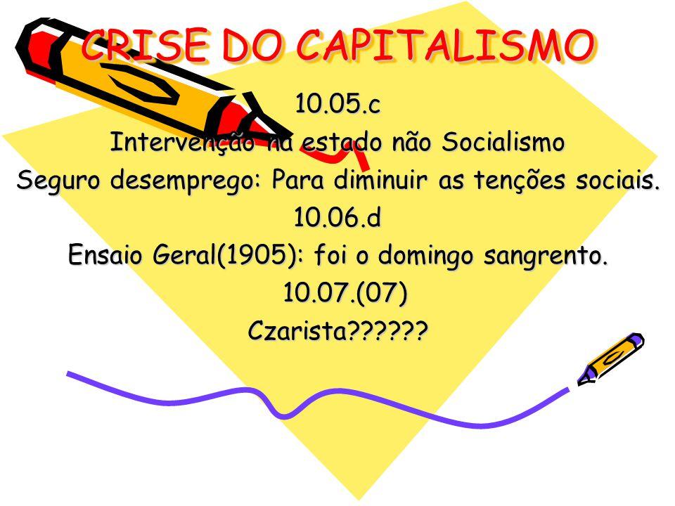 CRISE DO CAPITALISMO 10.05.c Intervenção na estado não Socialismo