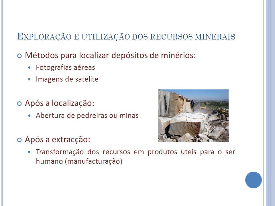Exploração e utilização dos recursos minerais