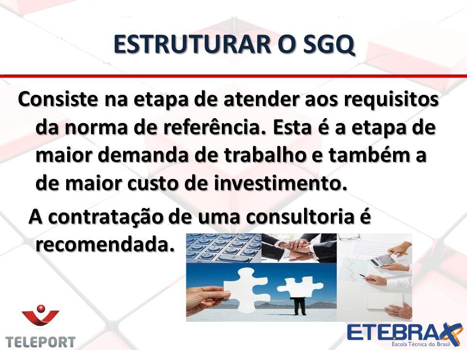 ESTRUTURAR O SGQ