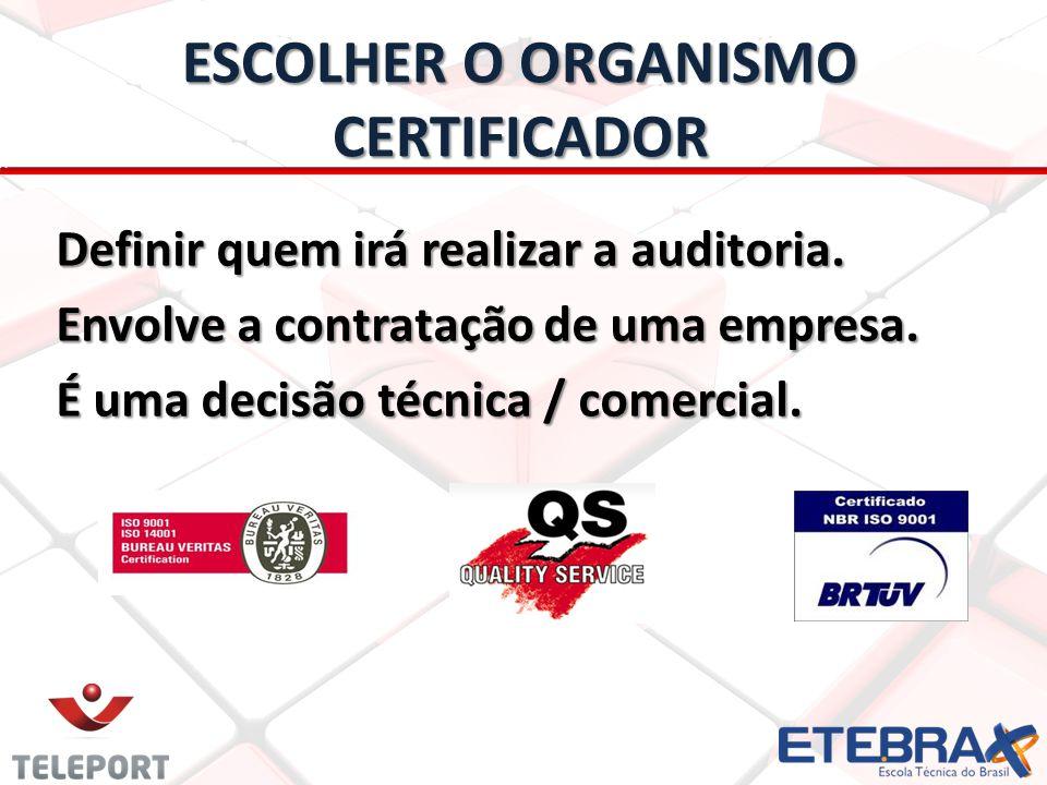 ESCOLHER O ORGANISMO CERTIFICADOR