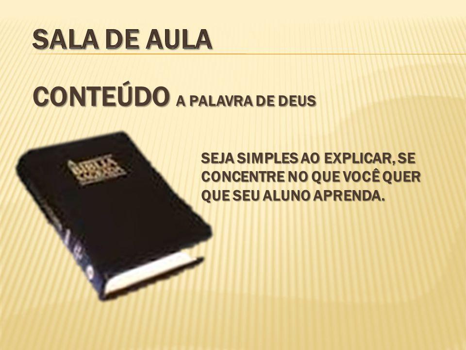 CONTEÚDO A PALAVRA DE DEUS