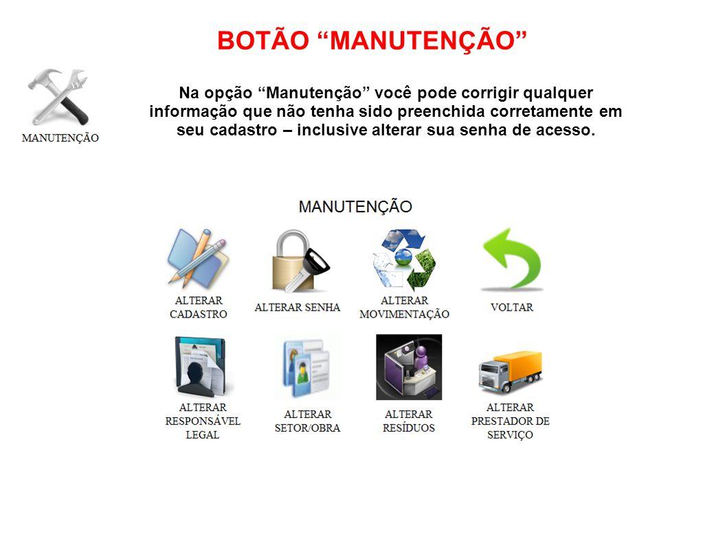 BOTÃO MANUTENÇÃO