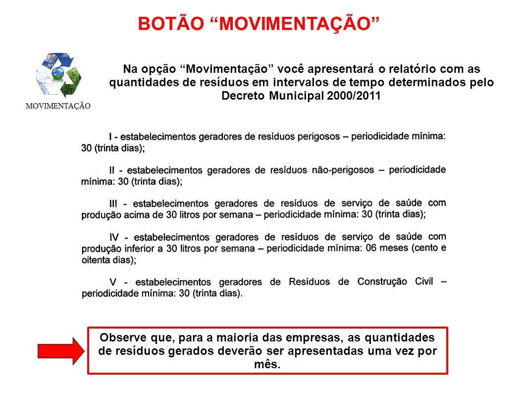 BOTÃO MOVIMENTAÇÃO