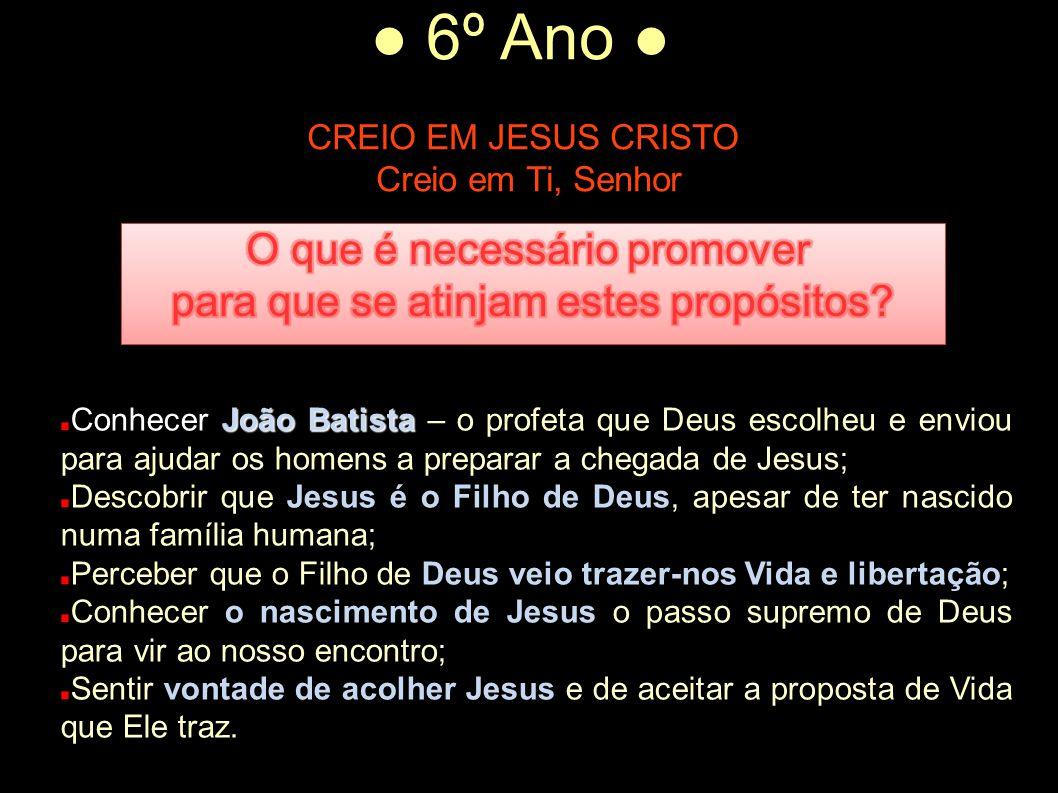 Creio em Ti, Senhor O que é necessário promover