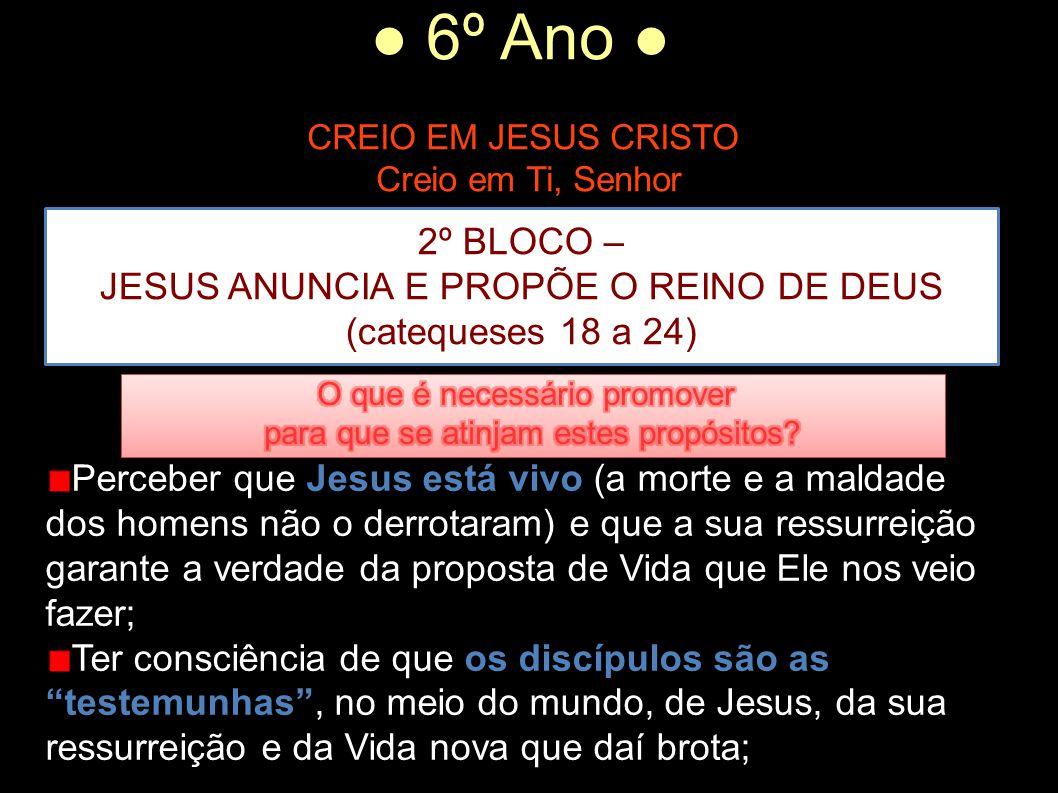 Creio em Ti, Senhor 2º BLOCO – JESUS ANUNCIA E PROPÕE O REINO DE DEUS